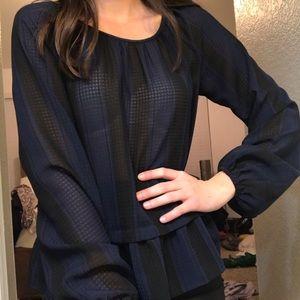 Merona chiffon stripped blouse